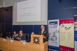 Polish Ambassador is addressing Polish Business
